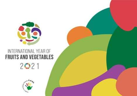 2021 international year of fruits and vegetables banner